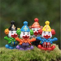Wholesale Clown Cartoon - Clown Cartoon Figurines Toy DIY Insects Terrarium Micro Landscape DIY Garden Succulents Terrarium Home Tree Decorations