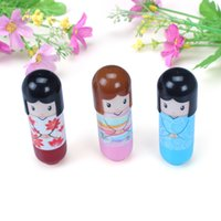 Wholesale Lip Cute - Lovely Doll Lip Balm Lovely Cute Baby Girl Lip Balm Lipstick Fashion babylips Care Hot Selling