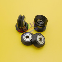 Wholesale Pom Wheels - Wholesale- 10pcs CNC Openbuilds Plastic wheel POM with Bearings W type double V type W groove V groove passive wheel pulley for V-slot
