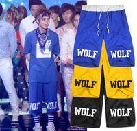 Wholesale Exo Wolf Shorts - Wholesale- lovers Men Women casual pants knee HARAJUKU exo xoxo wolf men women dress pants k pop k-pop kpop do