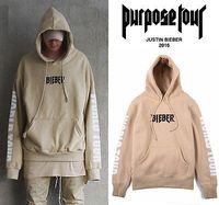 Wholesale Justin Bieber Hot - Wholesale- Hot Justin Bieber Purpose Tour Hoodie Long Sleeve Casual Tops Sweatshirt Men Women Unisex Hoodied Sweartshirt