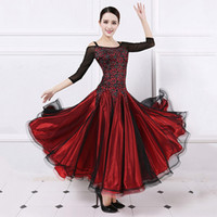 Wholesale Dance Wear Woman - Ballroom Competition Dress Women Tango Flamenco Waltz Dancing Wear Lady's High Quality Stage Ballroom Dance Dresses