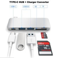 5 em 1 Tipo C Combo HUB PD SD + TF Card Slot + USB-C TO 3.0 HUB Digital Multiport Converter Adapter para Apple Macbook Air Pro