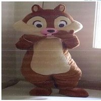 Wholesale Chipmunks Cartoon - High quality Dale Chipmunk Mascot Costumes Cartoon Character Costume Adult Fancy Dress Halloween carnival costumes EMS Free Shipping