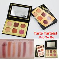 Wholesale Palette Eyeshadows - New Tarte tarteist PRO TO GO Clay palette Eyeshadow 6 Colors Tarte Eye Shadow Palette Pressed Powder Eyeshadows Makeup free shipping