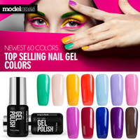Wholesale- Modelones Gel Polish Vernice UV LED Nude Color Series Gel UV Base Top Coat Lampada UV Nail Art Design Vendita calda Lacca set Gel per unghie