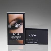Wholesale Size Models Catwalk - 2016 wholesale NYX 10 color eyeshadow palette CAVIAR&BUBBLES Versus Haute Model Smokey Eysy Catwalk free shipping