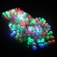 Wholesale White Led Ball Lights - High Quality Romantic Round White Led Flash Ball RGB Color Changing Balloon Lights for Halloween Wedding Valentine's Day Party Decoration