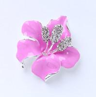 Wholesale Hibiscus Flower Jewelry - Hibiscus Flower Brooch for Wedding Bridal Bridesmaid Cake Decor  Aqua Ocean Blue Broaches  DIY Jewelry Crafts