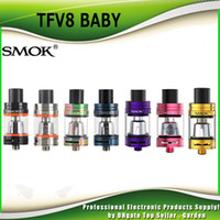 Wholesale T8 Atomizer Coil - Authentic Smok TFV8 Baby Tank 3.0ml Top Refill TFV8 Baby Cloud Beast Atomizer Fit Baby-Q2 Baby-T8 Baby-X4 Coil Head 100% genuine DHL Free