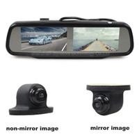 ingrosso telecamera posteriore-4.3inch Rearview Car Mirror Monitor + CCD Car Rear View Camera per telecamera posteriore / anteriore / vista laterale