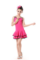 Wholesale ballet dance competition - Girl Children Latin Dancewear Competition Ballet Dancing Clothing Girl Dance Costume Child Latin Ballet Dance Dress For Girls