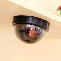 video gözetleme kubbesi toptan satış-Su geçirmez Ev Güvenlik Sahte Kamera Simüle video Gözetim kapalı / açık Gözetleme Kukla Ir Led Sahte Dome kamera