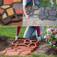 ingrosso pietre di pavimentazione diy-1pcs muffa del creatore del percorso di plastica diy che pavimenta manualmente / muffe del mattone del cemento gli strumenti ausiliari della pietra per la decorazione del giardino