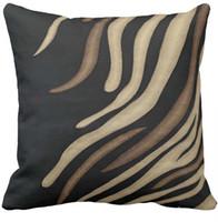 ingrosso cuscini marroni neri-Fodera per cuscino, nero, marrone chiaro, fodera per cuscino tiro moderno stampa tanica, divano quadrato e coprisella dell'auto (16 pollici, 18 pollici, 20 pollici)