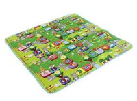 Wholesale Mat For Puzzle - Wholesale- 2015 Hot Sale Environmentally Foam Zoo Numbers Play Mat Puzzle Floor Mats Baby Carpet Pad Toys For Kids Rug Toy 270369
