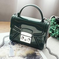 Wholesale Silicone Jelly Pcs - Women bags 2017 new candy color jelly bag chain shoulder crossbody messenger bags Silicone summer beach bag fashion brand