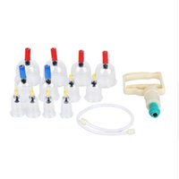 Wholesale Acupressure Cupping - 12Pcs Body Cuppings Suction Cups Kit + 6x Acupressure Magnets Point Therapy Massage Full Body Relaxation plastic