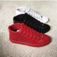 Wholesale Sport Comfort Sneakers - Arena Sneakers Kanye West Shoes Zapatillas Hombre Fashion Shoes Casual Lace Up Comfort Trainer Supperstar High Top Flat Men Shoes De Sport