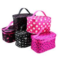 Wholesale Cheap Satin Bags - Hot Sale 22 Colors Many Designs Cheap wholesale Women's Travel Makeup quartet cosmetic Bag DHL Free Shipping