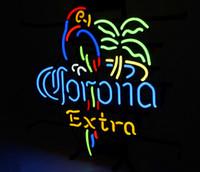 corona bar lichter großhandel-17 * 14 zoll New Tat reifen Neon Bier Zeichen Bar Zeichen Echtglas Neonlicht Bier Zeichen AL 006-Corona 15,7x16 002