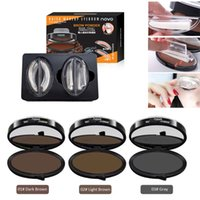 Wholesale Novo Free Shipping - NOVO Newest Quick Makeup Eyebrow Powder Seal Fashion convenience Eyebrow Powder Make up with 2 Eyebrow Shapes Easy To Wear DHL Free shipping