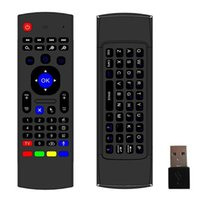 Wholesale android pc smart tv box online - 3D Air Fly Mouse MX3 GHz Wireless Remote Control with Axis Mic Mini Keyboard for Smart TV PC Android TV Box