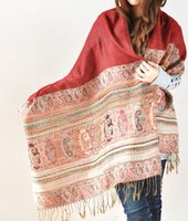 Wholesale Violet Scarves - Women's Shawls Bordeaux Red Women's Fashions Acrylic artificial Spun Rayon Weft Knitting Jacquard Size:L196cm W69cm (Violet)