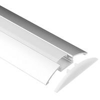 cubierta de perfil de tira de led al por mayor-perfil de aluminio led, 1m por pieza, perfil de extrusión de aluminio LED para tiras LED con cubierta difusa lechosa o cubierta transparente SN5608
