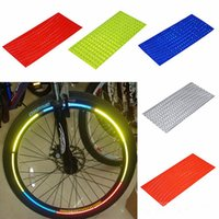 Wholesale Tyre Decals - Wholesale- 2017 Fluorescent MTB Bike Bicycle Motorcycle Wheel Tire Tyre Reflective Stickers Decal Tape Safety Silver For Bike New