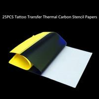 Wholesale Transfer Tatoo Paper - 25PCS Tattoo Transfer Paper A4 Size Tatoo Paper Thermal Stencil Carbon Copier Paper Tattoo Accessories
