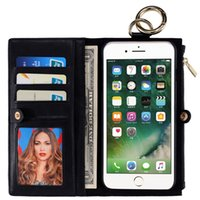 Wholesale iphone 5s case wallet for sale - High Quality Leather Wallet Cases With Card Slot Removable In For Iphone S SE S Plus S6 S7 Edge