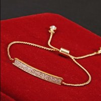 Wholesale Pave Diamond Charms - Wholesale- Unique CZ Diamond Micro Pave Fashion Bracelets & Bangles Gold Plated Crystal Jewelry Z-177