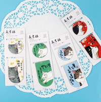 Wholesale Paper Magnets - 2 pcs pack Japanese Maggie Cat Magnet Bookmark Paper Clip School Office Supply Escolar Papelaria Gift Stationery