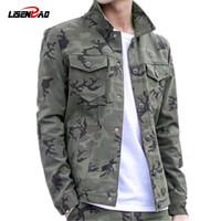 armee grüne männer militärjacke großhandel-Herren Designer Jacken Military Jacke Herren Mantel Army Green Jacke Herren Camouflage Jacke Casual Brand Clothing Plus Size 3XL Mäntel