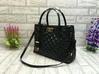 Wholesale M Messenger - Fashion Brand 33cm Women Diamond Lattice Sheepskin Handbag Classic Designer Ladies Crossbody Messenger Shoulder Bags M-2996-K