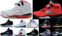 Wholesale Prince Pvc - High Quality Retro 5 V Basketball Shoes Men Oreo 5s Space Jam Green 5s Black Grape Leather Black Fresh Prince Athletics Sports Sneakers 7-12