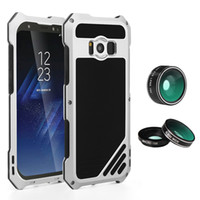 Wholesale Galaxy Lens Kit - For Samsung Galaxy S8 Plus Lens Kit Case with IP54 Dustproof Shockproof Black Silver Gold Rose Cover Aluminum Case for Galaxy S8 Plus
