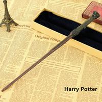 alfarero alfarero al por mayor-Creative Cosplay 17 Estilos Hogwarts Harry Potter Series Varita mágica Nueva actualización Resina con núcleo de metal # 02 Varita mágica de Harry Potter