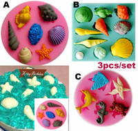 Wholesale Silicone Molds Cake Animal - 3D Carrousel Cake Molds Food-Grade Silicone Chocolate Fondant Mould marine animal conch shell DIY Kitchen Baking Cake Decorating Tool