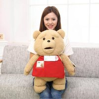"Wholesale Wholesale Teddy Bears 16 - Wholesale- 1pcs 16"" 40cm Movie Teddy Bear Ted Plush Toys In Apron Soft Stuffed Animals Ted Bear Plush Dolls Birthday Gift"