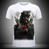 Wholesale 5xl Tall - fashion 3D T Shirt Hot 2017 New 3d Printed Cool pirate yeezus T Shirt Mens-6XL KANYE WEST Cotton T-Shirt for tall and big men Free shipping