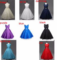 Wholesale Wholesale Dance Dresses For Kids - Birthday Party Daddy Daughter Dance Teenager Girl Dress Kids Clothes Flower Girls Dresses for Baby Child clothing 7colors