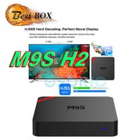 Wholesale Mini Top Hot - Hot selling MINI M9S H2 Android OTT TV Box KD 16.1 Fully Loaded Quad Core Streaming Media Player support WiFi H.265 3D Set Top Box