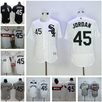 Wholesale Hot sale Majestic MLB Men s Chicago White Sox Michael Baseball jerseys Grey White Black Flex Base Cool Base MJ Jordan Authentic Jersey