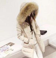 Wholesale Korean Button Down - In the winter of 2016 new women's big fur collar jacket, long thick thin coat slim Korean code
