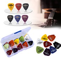 Wholesale New Style Electric Guitar - guitar picks 1 box case Alice acoustic electric guitar accessories musical instrument thickness 0.58-1.5 New Design Y14
