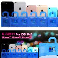 Wholesale Sim Unlock Adapter Card - R-SIM11 General Nano Cloud Unlock Card For iPhone 7&7P&6S&6 IOS10.X$9.X&8.X&7.X CDMA GSM WCDMA SB AU SPRINT 3G 4G