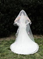 Wholesale Bridel Wedding Dress - Two Layers Tulle Short Bridal Veils 2017 Hot Sale Cheap Wedding Bridal Accessory Bridel Veils For wedding Dresses Wedding Net In Stock