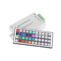 teclas ir mando a distancia al por mayor-Controlador de infrarrojos DC12V-24V 12A 144W 44 teclas para aluminio RGB SMD 5050 3528 LED para un trabajo más largo
